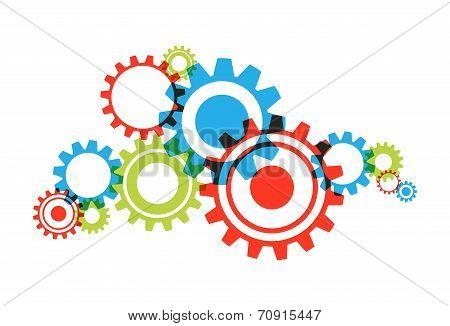 Transparent Cog Wheels