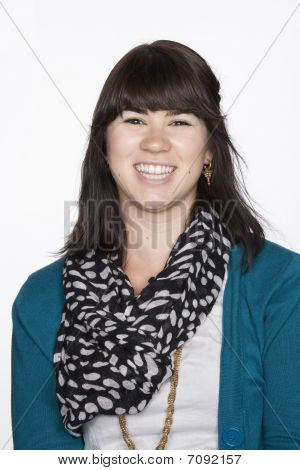 Portrait Of Young Woman In Business Attire. Isolated.