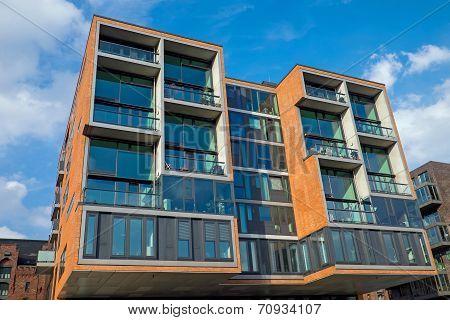 Modern condominium in the Hafencity in Hamburg poster