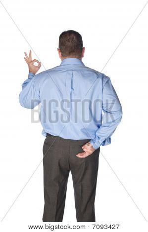 Man Giving Hand Signals
