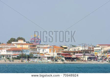 View Of Laganas Coast On Island Zakynthos