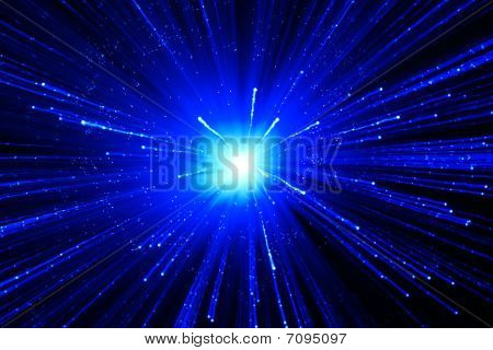 Abstract Blue Background With Star