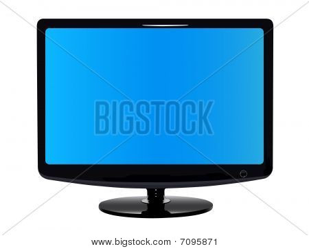 Vector image: Flat modern TV