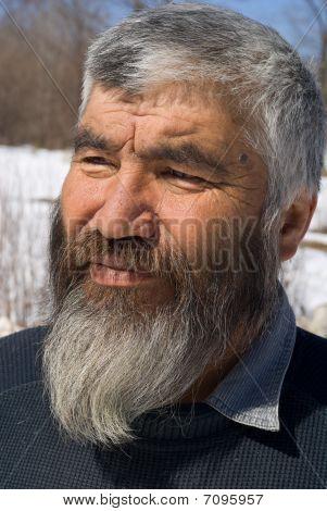 Old Mongoloid Man