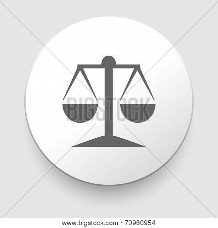 Vector icon of justice scales