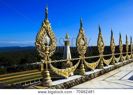 View point at Phra Maha Chedi Chai Mongkol Temple in Roi Et poster