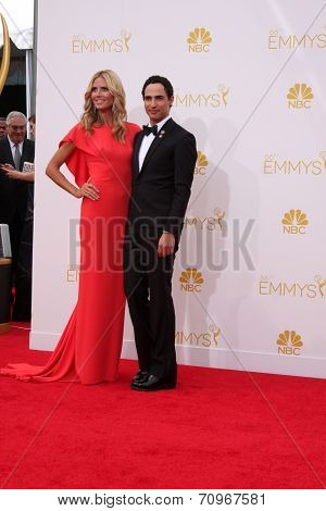 LOS ANGELES - AUG 25:  Heidi Klum, Zac Posen at the 2014 Primetime Emmy Awards - Arrivals at Nokia at LA Live on August 25, 2014 in Los Angeles, CA