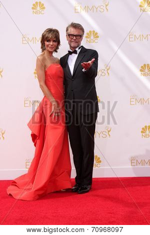 LOS ANGELES - AUG 25:  Lisa Rinna, Harry Hamlin at the 2014 Primetime Emmy Awards - Arrivals at Nokia at LA Live on August 25, 2014 in Los Angeles, CA