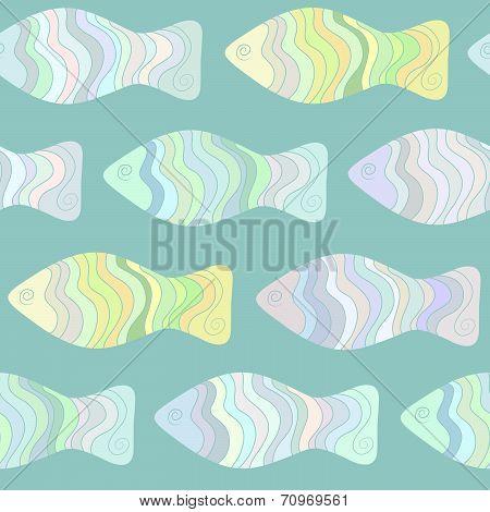 Colorful fish seamless pattern.