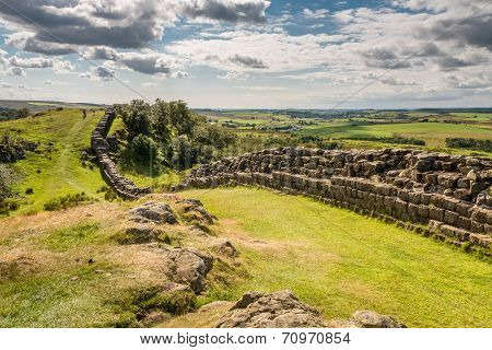 Walltown Crags On Hadrians Wall