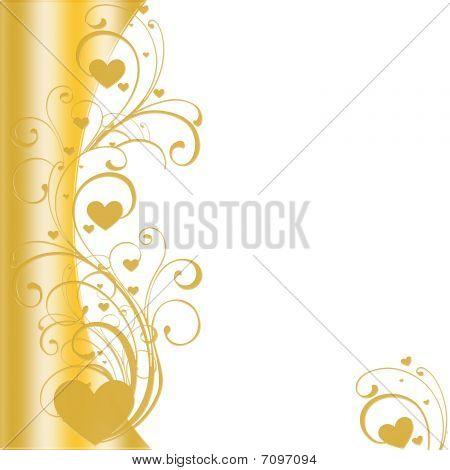 Golden Hearts On Left