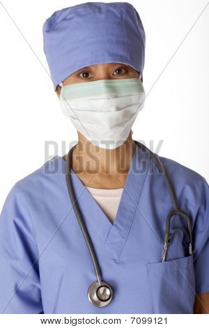 Medical Professional In Scrubs