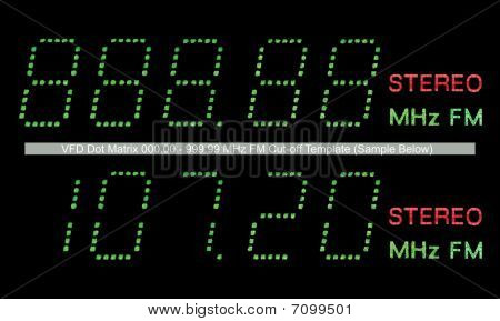 VFD Dot Matrix Fm Radio Display Makro in grün