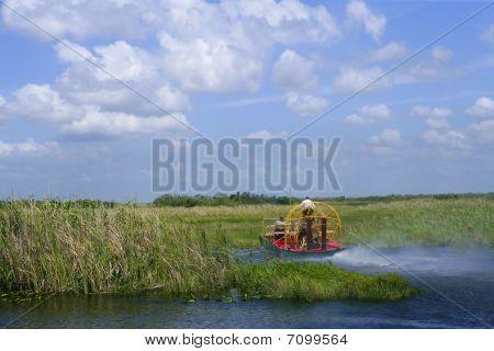 Air boat in Everglades Florida Big Cypress National Preserve poster