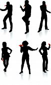 Singers Silhouette Collection Original Vector Illustration People Silhouette Sets poster