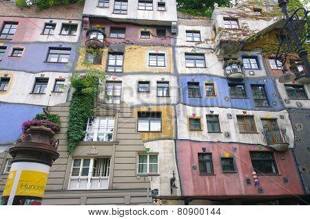 Hundertwasser color house