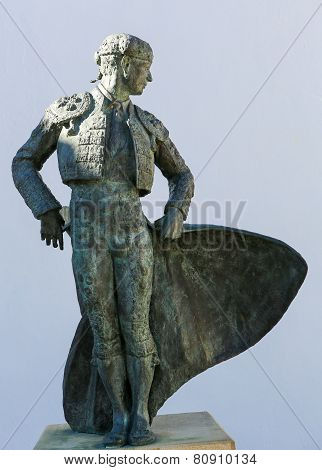Matador Ordenez Statue In Ronda, Andalusia, Spain