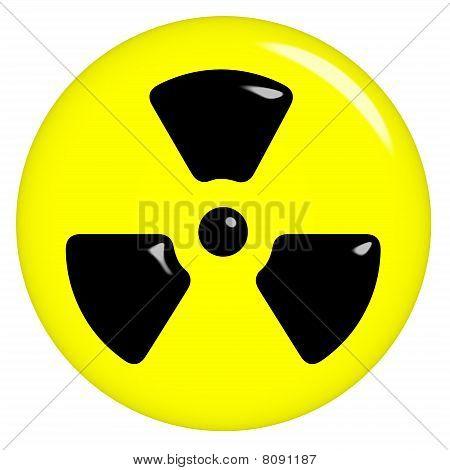 3D Radioactive Symbol