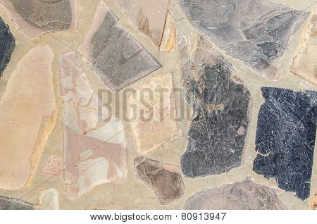 Stone Floor Plastered With Cement For Background