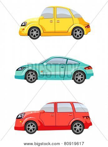 Cute colorful cars