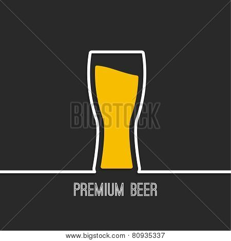 Abstract background with Beer glass with yellow liquid. Logo for restarana, pub menu, cafe poster