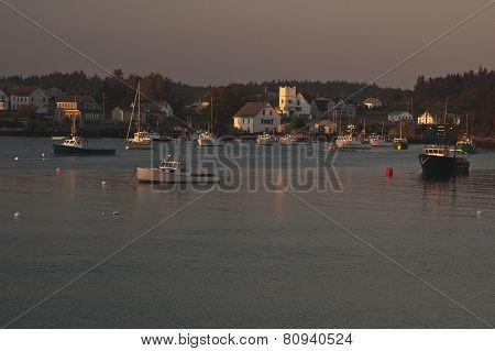 Dusk on Cutler Harbor, Maine