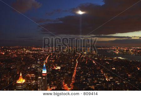 World Trade Centre lights in New York