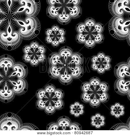 Seamless Lacy Snowflakes