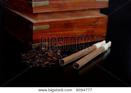 Casket With Cigars