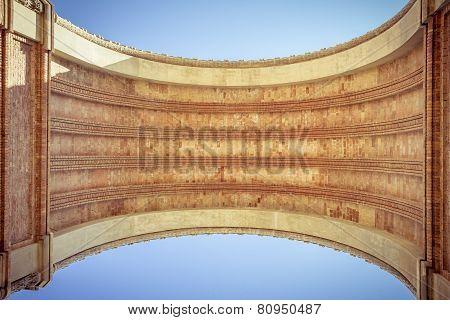 Arc De Triomf, Barcelona, Extreme Worm's Eye View