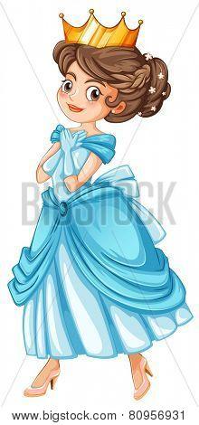 Illustration of a close up princess