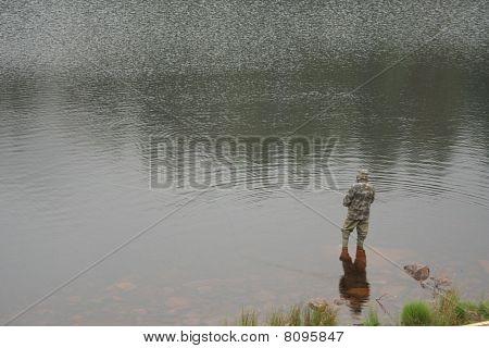 Lake fisherman