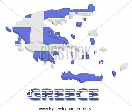 Greece territory with flag texture.