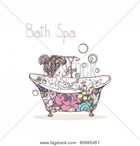 beauty concept, bath spa