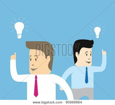 Businessmen with ideas