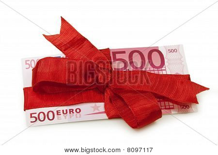 Euro Banknote As Gift