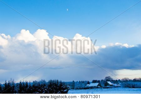 Winter And Clouds.