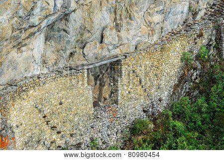 Incan Bridge - Machu Picchu, Peru