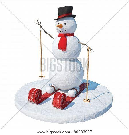 Snowman Skier