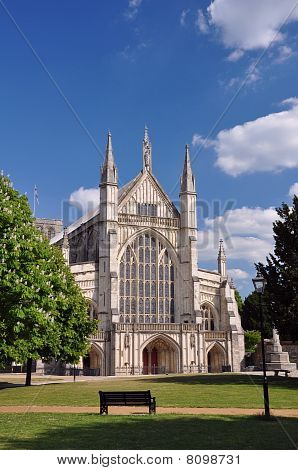 Winchester Cathedral Front Facade And Entrance