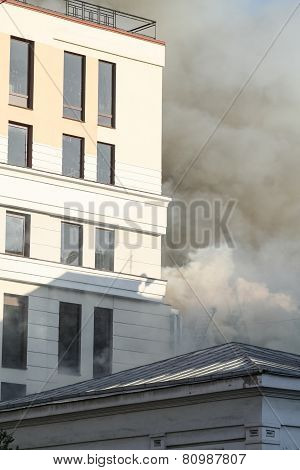 A Fire In A Warehouse At 108 Frolovska