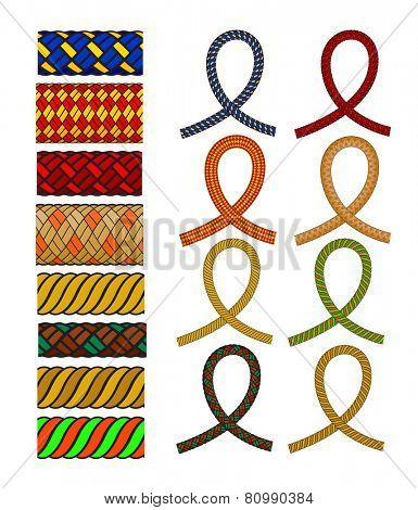 set of knot pattern brush