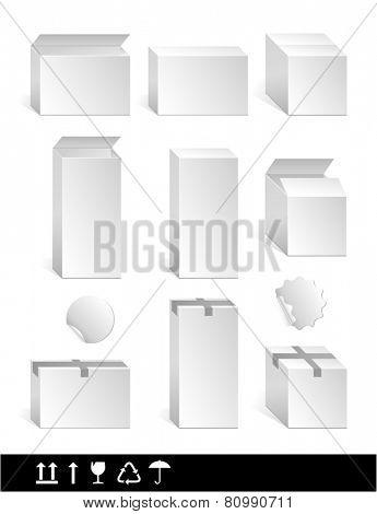 white clear box for design