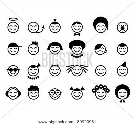 set of vector smile