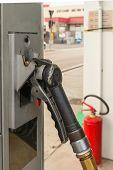 liquid gas propane fuel gun before refill poster