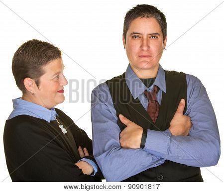 Woman Looking At Partner In Tie