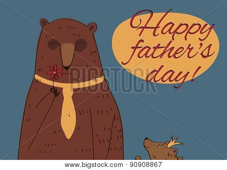 Daddy Bear Happy Father's Day