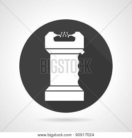 Electroshock black round vector icon