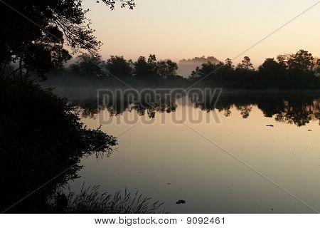 Early morning at the fishing lake