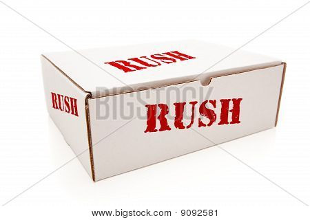 White Box With Rush On Sides Isolated